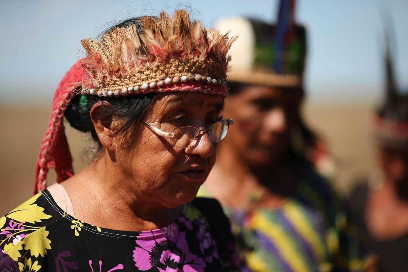 Ñandeci Júlia Cavalhera, esposa do cacique e líder dos índios guaranis-caiovás Marcos Veron, brutalmente assassinado por pistoleiros em 2003, a mando de fazendeiros, no Mato Grosso do Sul. Foto: Dida Sampaio, Estadão