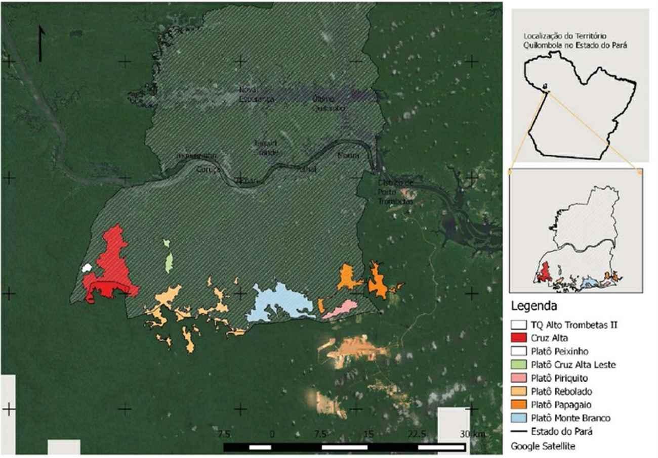 mapas bauxita quilombolas